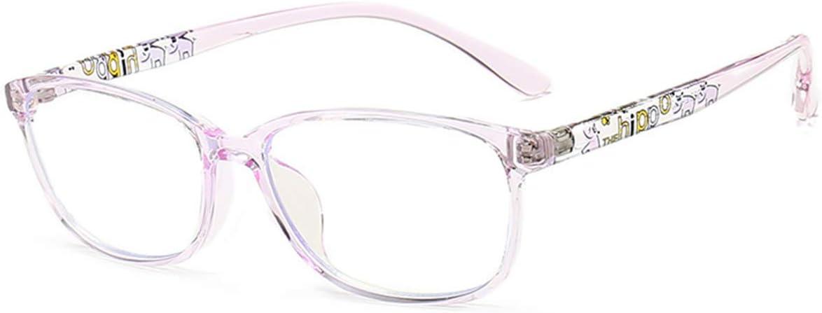 MAXJULI Kids Blue Light Blocking Glasses - Anti Eyestrain - Video Computer Gaming Eyeglasses for Boys & Girls - TR90 Square Flexible Eye Glasses (Purple)