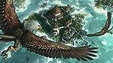FFGHH Puzzle Puzzle 1 000 Genuine Puzzles Águila En El Cielo para Infantiles Adolescentes Regalo De Cumpleaños 75 * 50Cm