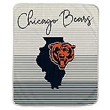 Pegasus Sports NFL Ultra Fleece State Stripe Blanket- Chicago Bears Team Color 60x70
