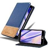Cadorabo Funda Libro para LG X Power en Azul MARRÓN - Cubierta Proteccíon con Cierre Magnético, Tarjetero y Función de Suporte - Etui Case Cover Carcasa