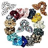 SYOSIN Cintas para el pelo, Scrunchies 18 Pcs Multi Color - Cintas para el cabello de calidad premium para accesorios para el cabello para niñas,Diseño retro para niñas