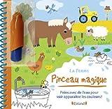 Pinceau magique - La Ferme - La Ferme – Livre Coloriage magique à l'eau avec un pinceau – À partir de 3 ans