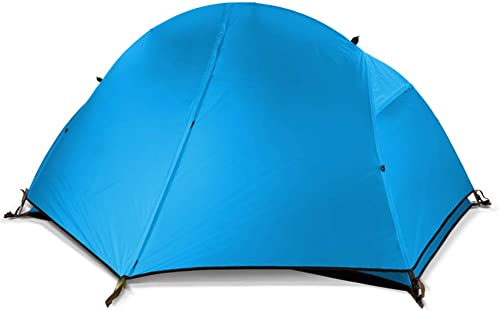 WZFC Tente Légère de Camping Ultra Sac à Dos Imperméable,1 Personne 4 Saisons pour randonnée Escalade
