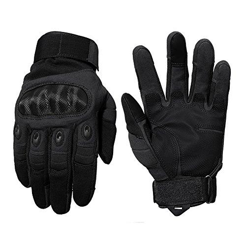 TACVASEN Taktische Handschuhe Winter Motorrad Handschuhe Herren Vollfinger Army Gloves Biking Ski Handschuhe (Schwarz, M) - 7