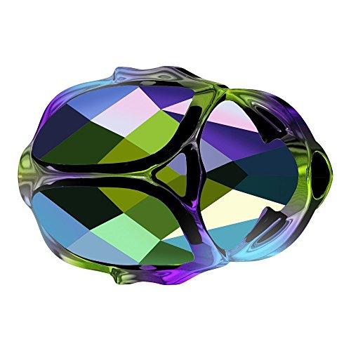 Skarabäus-Perle, Swarovski-Kristall, grün, 12 mm, 1 Stück