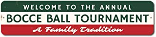 Welcome Annual Bocce Ball Tournament Sign, Custom Family Tradition Party Game Winner Gift, Man Cave Dorm Decor - 9