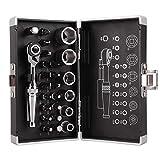 26pcs Mini Llave de trinquete Socket Bits 1/4 '' Llave de impulsión Kit Herramientas para la Utilidad de la Bicicleta a Usar