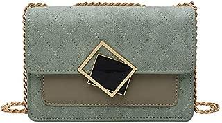 TOOGOO PU Crossbody Bags for Women Chain Shoulder Messenger Bag Female Small Handbags and Purses Cross Body Bag Green