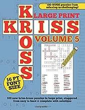 Large Print Kriss Kross Volume 5