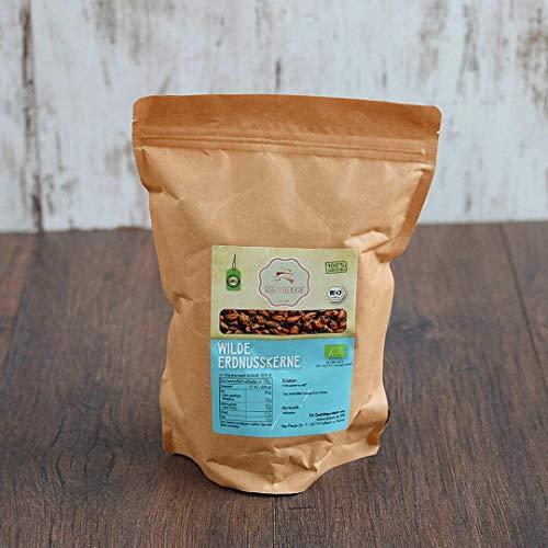 süssundclever.de® Bio wilde Erdnusskerne   Rohkost   1000 g   plastikfrei und ökologisch-nachhaltig abgepackt