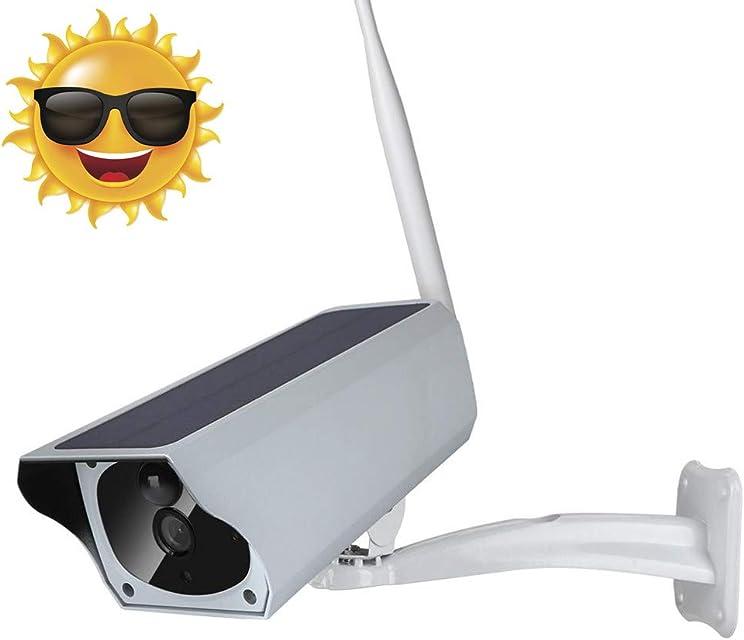 1080p Cámara IP Bala con Energía Solar IP67 Impermeable Al Aire Libre Cámara de Vigilancia IR-Cut Visión Nocturna PIR Detección de Movimiento para Villas Comunidad Patio