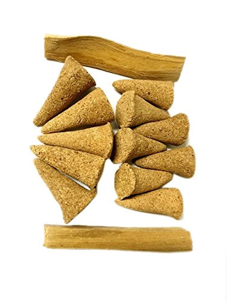 たるみ郡機械的AliveハーブPalo Santo Incense Cones、12?Cones plus 2?Palo Santo Sticks