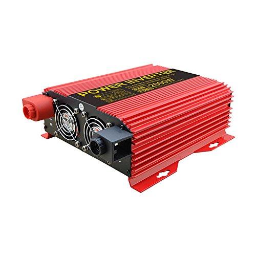 BQ Convertisseur @ Power Inverter DC 12V à 220V AC Convertisseur de voiture PV solaire avec adaptateur allume-cigare 2000W (Rouge)