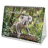 Koalazauber DIN A5 Tischkalender für 2022 Koalabären, Koala - Geschenkset Inhalt: 1x Kalender, 1x Weihnachtskarte (insgesamt 2 Teile)