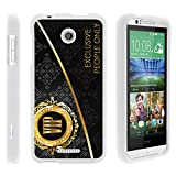 TurtleArmor | Compatible with HTC Desire 510 Case [Slim Duo] Ultra Compact Hard Snap On Case Slim Matte Cover on White Gambling Casino - VIP Pass