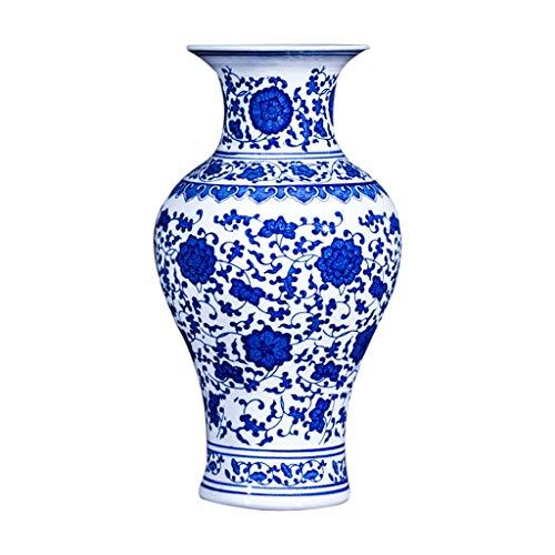 Jarrones cerámica Creativa de Alto Grado clásico for la decoración casera del hogar Boda Salón Dormitorio Oficina Tabla Blanco 18 x 32 cm Decoración del hogar