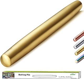 Berglander Finition mate de rouleau à pâtisserie en acier inoxydable avec placage de titane doré pour la cuisson de pâte à...