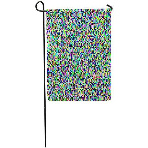 Starolal Gartenflagge graue Pixel Rauschen VHS Glitch TV Bildschirm Farbe kein Signal Haus Haus Dekoration Barnner Outdoor Ständer 30,5 x 45,7 cm Flagge