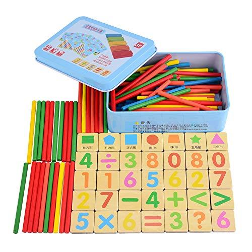 Zerodis- Juguete aritmtico, Madera Cinta Adhesiva magntica Matemticas Juego de Rompecabezas con Caja de Hierro Montessori Educativo Calcular Juego Desarrollo temprano Regalo para nios