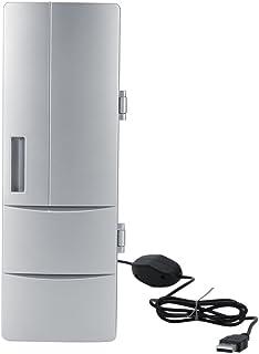 Refrigerador Mini USB Compacto, Mini Nevera con Congelador