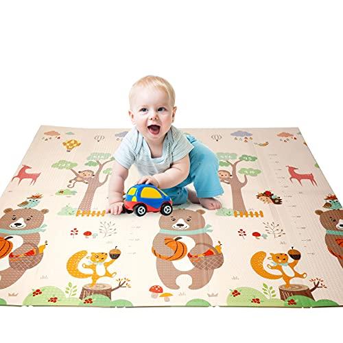 Tapis de Jeu pour Bébé, Jeu de Sol Pour Bébé en Tapis Pliable Non Toxique pour Enfant Extra Grand Tapis Épaissie avec l