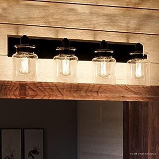 Luxury Modern Farmhouse Bathroom Vanity Light, Large Size: 8.625