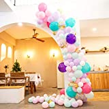 Unicorn Balloon Arch Garland Kit,107 PCS Pearl Powder/Pink Purple/Light Purple/Turquoise Teal/White Latex Balloons and Gold Confetti Balloons,Balloons for Party Wedding Birthday Balloons Decorations