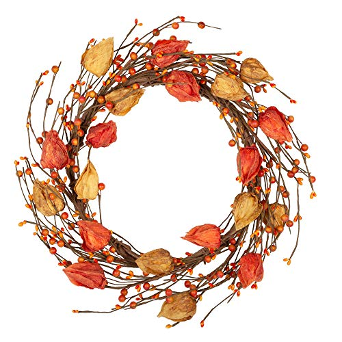 fall wreath with berries