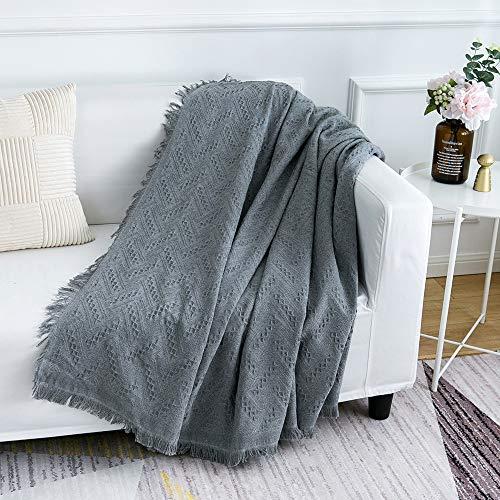 Manta multifuncional para sofá, colcha, sillón o sillón, la primera opción para viajes en casa y oficina, 130 x 180 cm, color gris