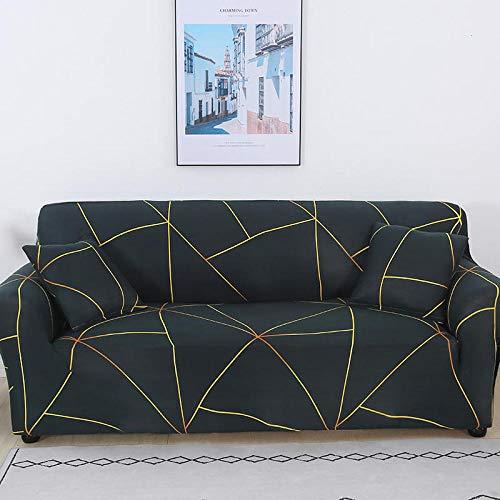 Fundas de cojín separadas 2 plazas y 3 plazas 2 piezas Funda elástica para sofá Sala de estar geométrica, Funda para sofá Esquina para mascotas Funda para chaise longue en forma de L Universal