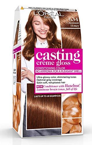 L'Oréal Paris Casting Crème Gloss Coloration Ton sur Ton pour Cheveux - Sans Ammoniaque - Marron Miel (634)