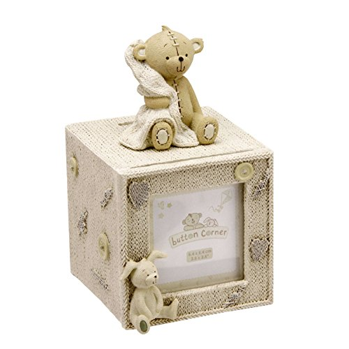 Button Corner Resin Cube Money Box with Photo (CG750)