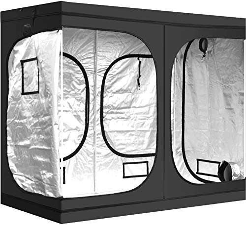 RIMARUP Plant Tent Grow Tent Hydroponic 240 x120 x 200cm(96'x48'x80') Indoor Grow Box and Grow Room with Observation Window, Tool Bag and Floor Tray for Indoor Plant Growing
