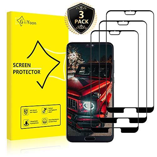 GiiYoon-3 Piezas Protector de Pantalla para Huawei P20 Pro Cristal Templado,[Sin Burbujas] [Cobertura Completa] [9H Dureza] Vidrio Templado HD Protector Pantalla para Huawei P20 Pro