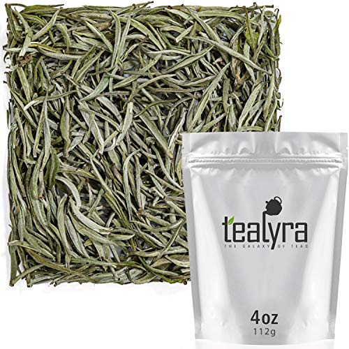 Tealyra - Darjeeling - White Silver Needle - Indian White Loose Leaf Tea - Low Caffeine - All Natural - 112g (4-ounce)
