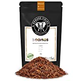 Edward Fields Tea ® - Rooibos orgánico a granel de origen único Sudáfrica. Rooibos bio recolectado a mano con ingredientes naturales, 100 gramos.