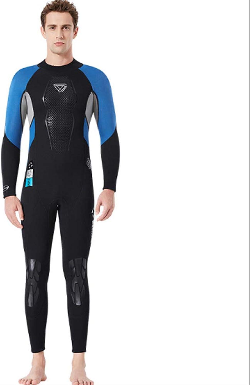 HBRT Mens black Full Body Wetsuit Neoprene 3mm Scuba Diving Suit One Piece for Snorkeling Surfing Swimming kayaking canoeing
