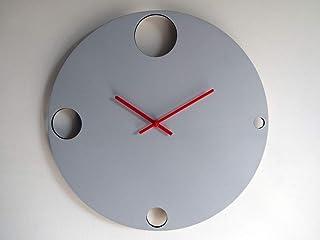 42cm Grande orologio da muro silenzioso per camera letto colorato come grigio nuvola Particolari orologi a parete analogic...
