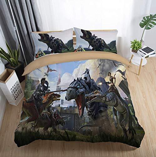 332 ZLQF Juego de ropa de cama de 100% poliéster y algodón, impresión 3D World of Warcraft/Switch, funda de edredón, fondo de impresión reactiva textil para el hogar, 3 piezas, C, UKDouble