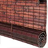 WYAN Bambus-Rollo, wasserfest, antiseptisch, Sonnenschutz, für draußen, 3 Verschiedene Größen, personalisierbar, Bambus, a, 129X260CM