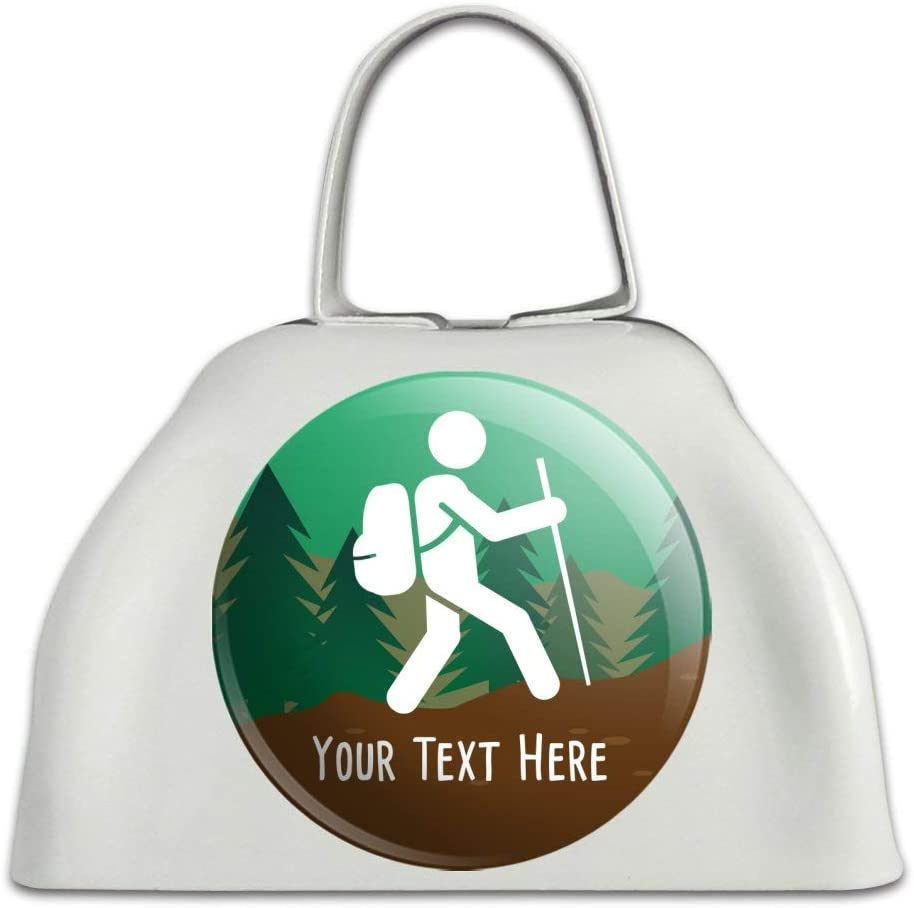 Personalized Custom Popularity Animer and price revision Hiker Hiking Symbol 1 Metal Cowbe White Line