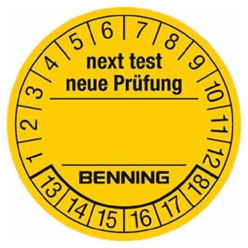 BENNING GmbH & Co.KG 756212 Prüfplaketten-300 Stück zur Kennzeichung von getesteten Geräten