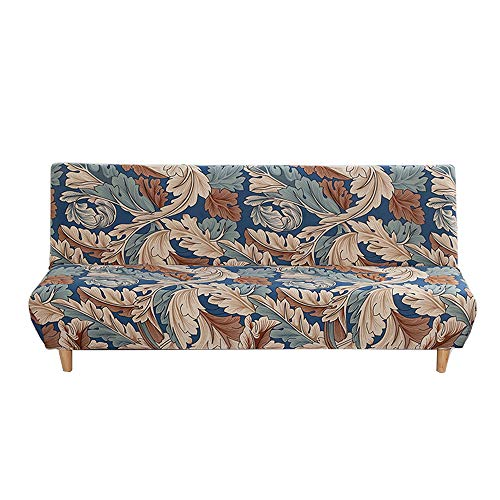 C/N Funda de sofá Cama sin Brazos Fundas para futón Plegable Fundas de Sofa Clic clac Estampado sin Reposabrazos elástica