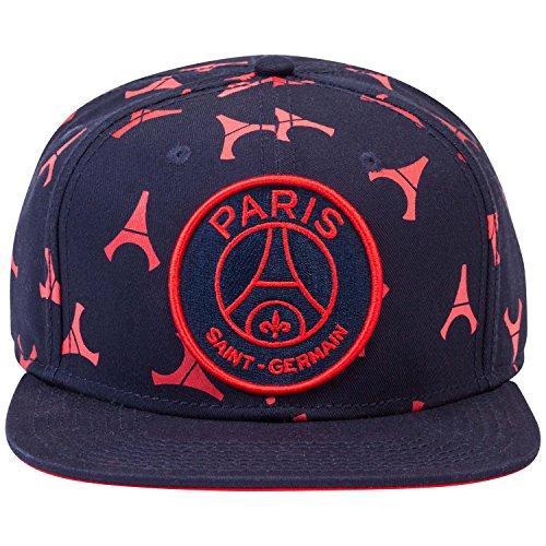Paris Saint-Germain Schirmmütze für Erwachsene, Größe einstellbar, offizielle Kollektion