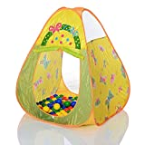 LCP Kids Spielzelt Butterfly Pop Up Kinder Spielhaus Bällebad mit 100 bunten Bällen