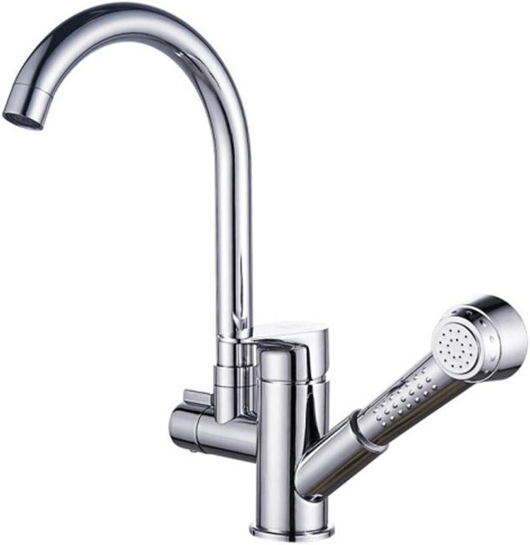 ZKLNJ feine kupfer küche pull wasserhahn hei und kalt mischwasser multifunktions dusche wasserhahn waschbecken waschbecken wirbel