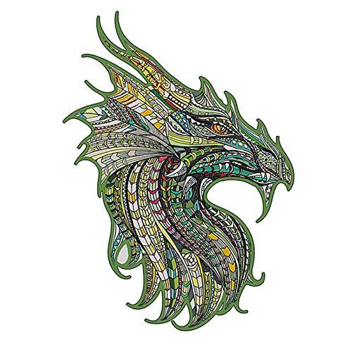 Leeofty Rompecabezas de Madera de Tilo Dragón Aviones Rompecabezas Educativo Juego de Rompecabezas Guardian Dragon A4