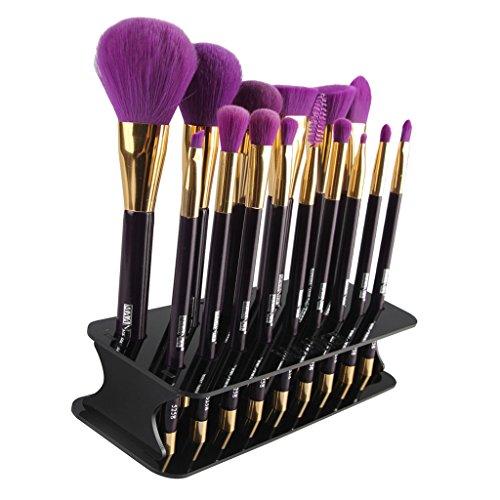 SM SunniMix Porte-pinceau De Maquillage Carré 15 Trous Outil De Plateau De Séchage