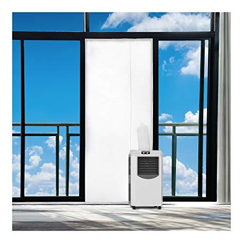 Rhodesy Guarnizione Universale Per Finestra per Climatizzatori Mobili e Asciugatrici 400CM Finestre, Adatta a Condizionatori Portatili, Blocca Aria Calda, Facile da Installare, Senza fare Buchi