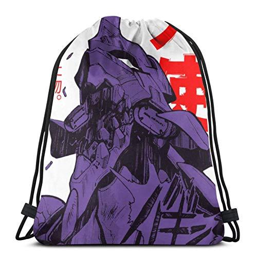 XCNGG Sporttasche Kordeltasche Reisetasche Sporttasche Schultasche Rucksack Drawstring Bag Evangelion Robot Kanji Racerback Tank Top Training Gymsack